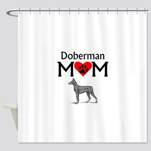 Doberman Mom Shower Curtain